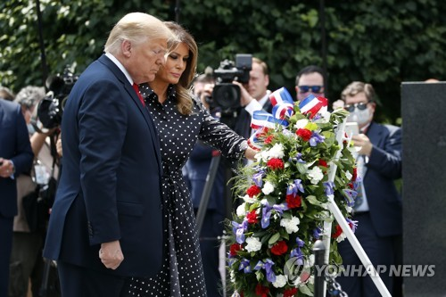 (2nd LD) Trump pays respects at Korean War memorial on 70th anniversary of outbreak