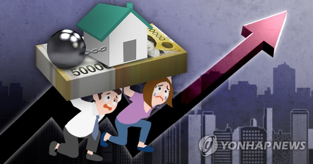 가계빚 1천500조원 돌파 '사상 최대'(PG)
