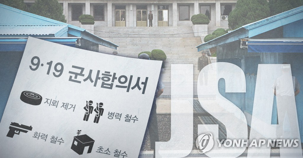 (LEAD) Two Koreas, UNC wrap up JSA disarmament - 1
