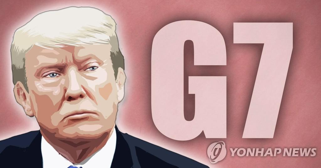 G7の枠組み拡大に言及したトランプ大統領=(聯合ニュース)