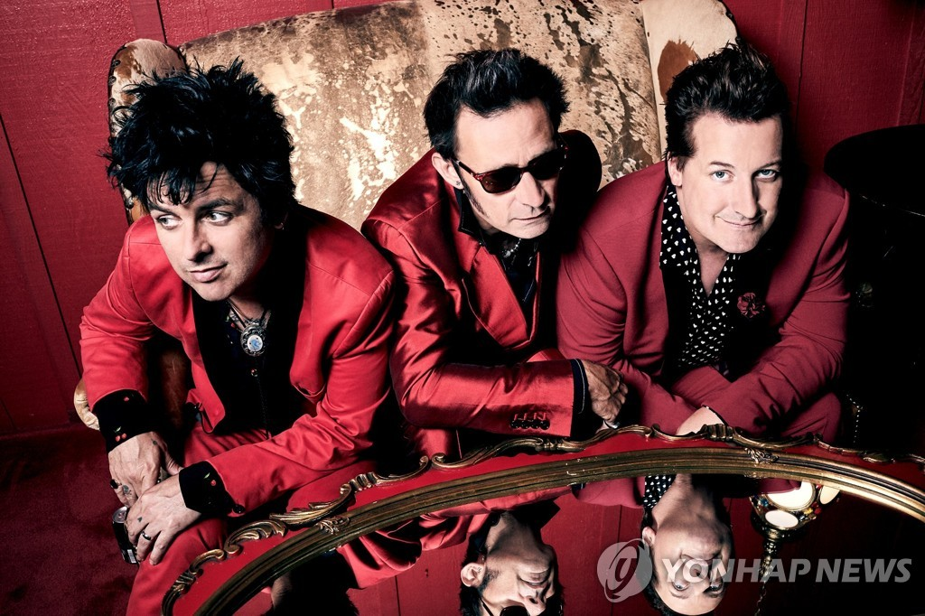 American rock band Green Day by Live Nation Korea (PHOTO NOT FOR SALE) (Yonhap)