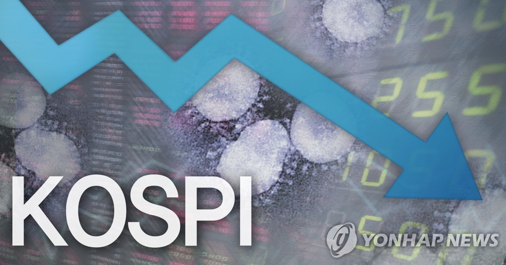 Seoul stocks end sharply lower on virus fears, won falls