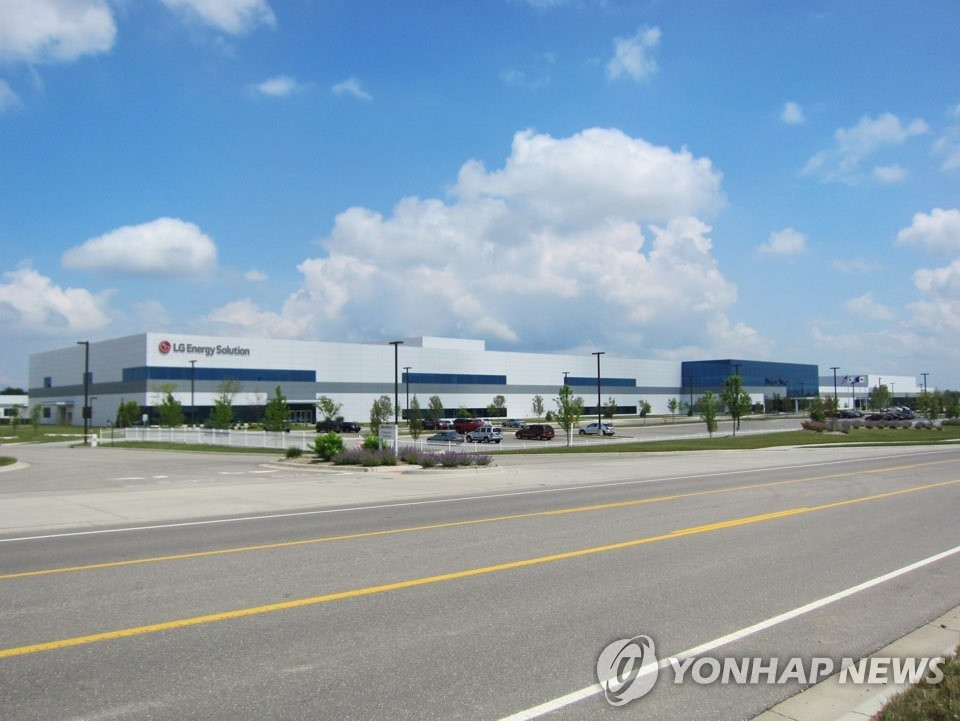 LG Energy Solution Ltd.'s electric vehicle battery factory in Michigan is seen in this photo provided by the subsidiary of LG Chem Ltd. on Jan. 27, 2021. (PHOTO NOT FOR SALE) (Yonhap)
