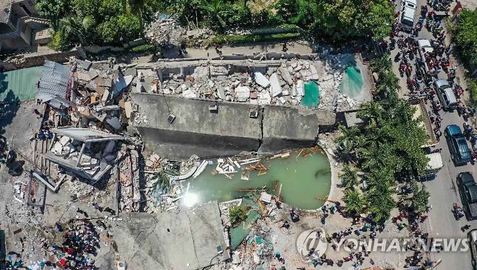 7.2 강진 이후 아이티 레카이