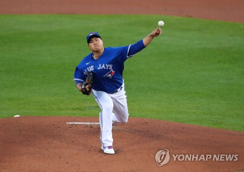(LEAD) Blue Jays' Ryu Hyun-jin exorcises Yankees demon in crucial victory