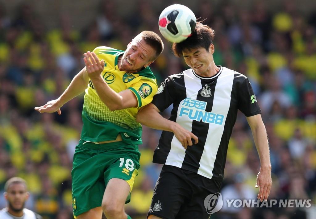 기성용, 시즌 첫 선발 출격…뉴캐슬은 승격팀 노리치에 완패 | 연합뉴스