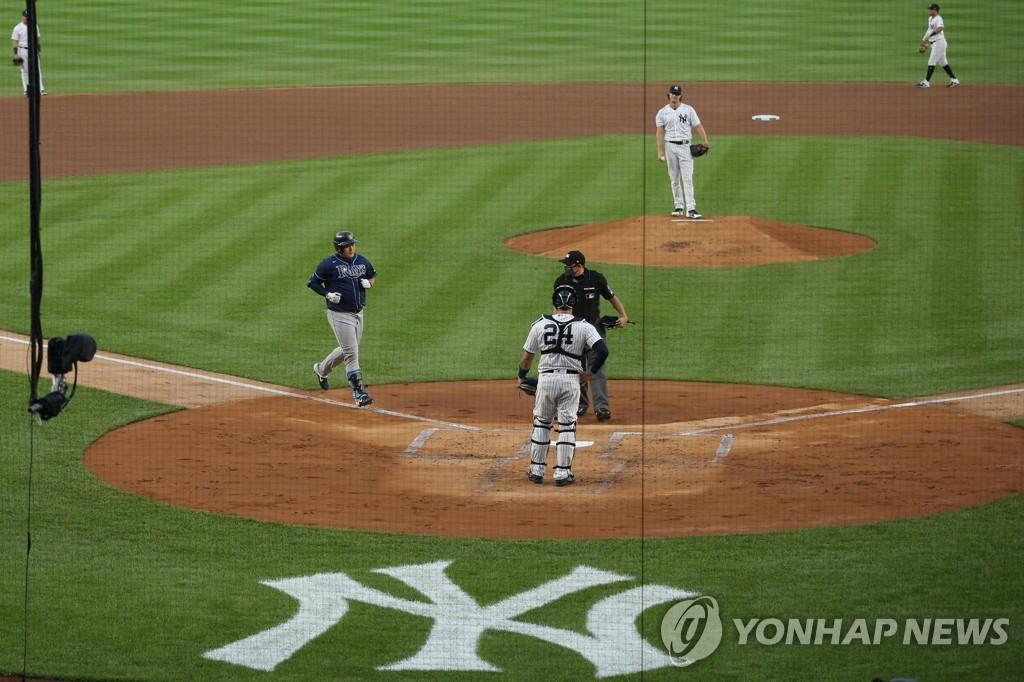 탬파베이 최지만 양키스 에이스 게릿 콜 상대로 시즌 2호 홈런 연합뉴스