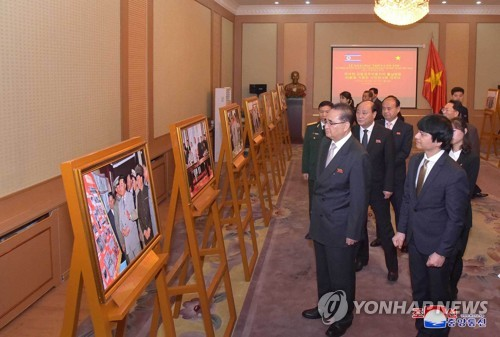 Photo exhibition on Kim Il-sung's visit to Vietnam