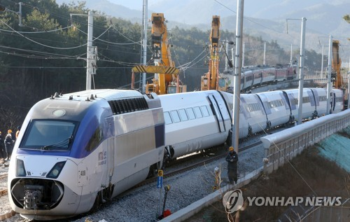 Work to restore Gangneung rail line
