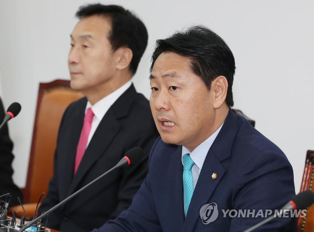 최고위원회의에서 발언하는 김관영 원내대표
