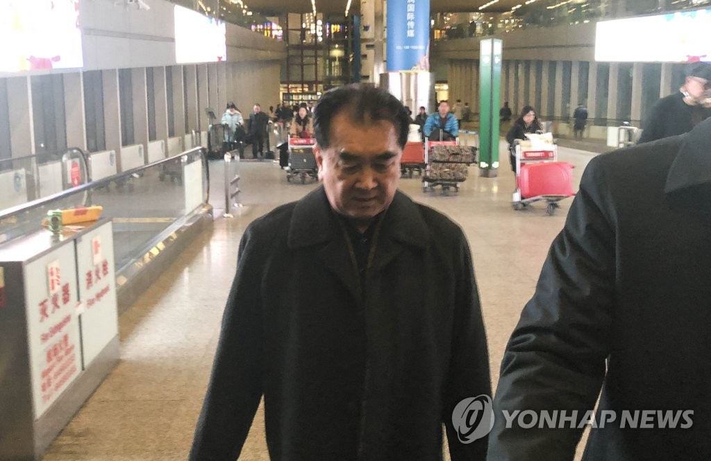 Kim Chang-son, chief secretary of the North Korean Secretariat of the State Affairs Commission, arrives at Beijing Capital International Airport on Feb. 15, 2019. (Yonhap)