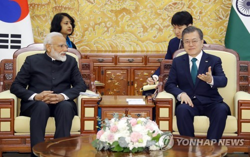 (2nd LD) S. Korea, India agree to strengthen defense cooperation, economic ties