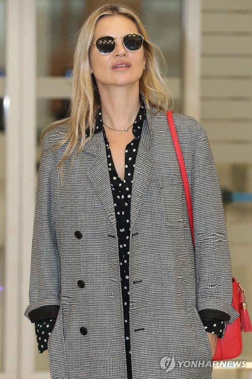 Fashion legend Kate Moss in Seoul