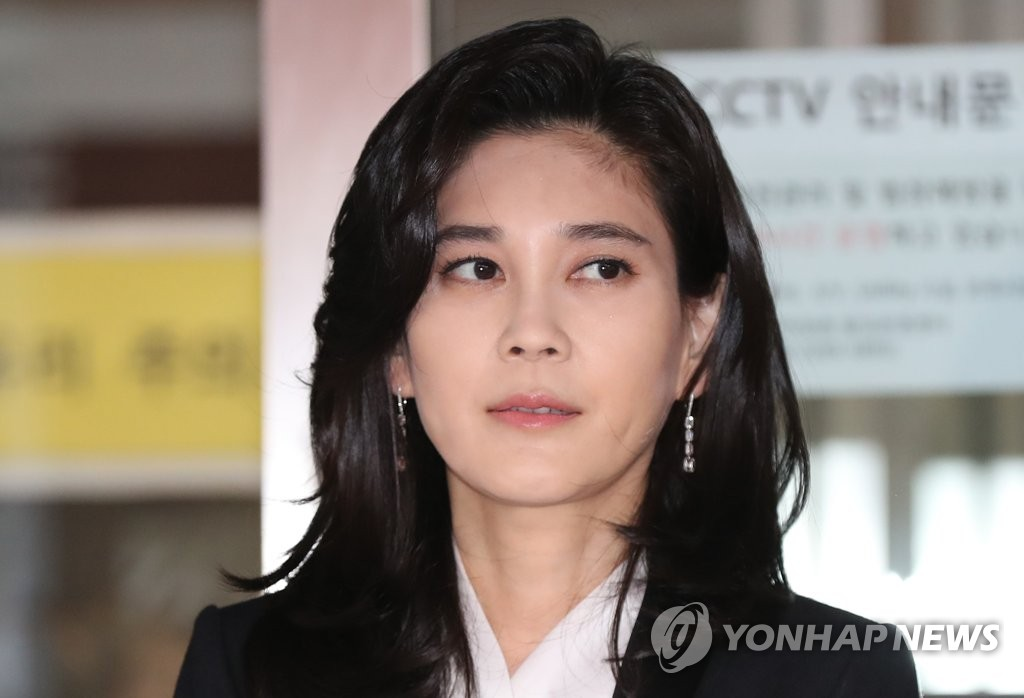 Hotel Shilla chief Lee Boo-jin is shown in this photo taken March 21, 2019, as she stood in front of the press before her company began its regular shareholder meeting in Seoul. (Yonhap)