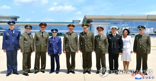Russian military delegation visits N.K.