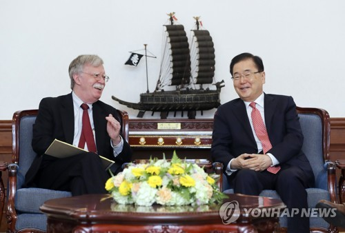 Bolton meets top S. Korean officials amid Seoul-Tokyo trade spat, air intrusion row