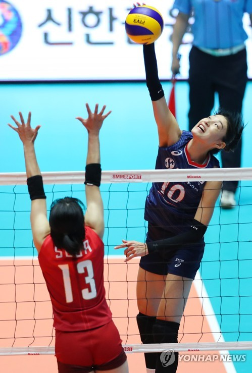 S. Korean volleyball star Kim Yeon-koung