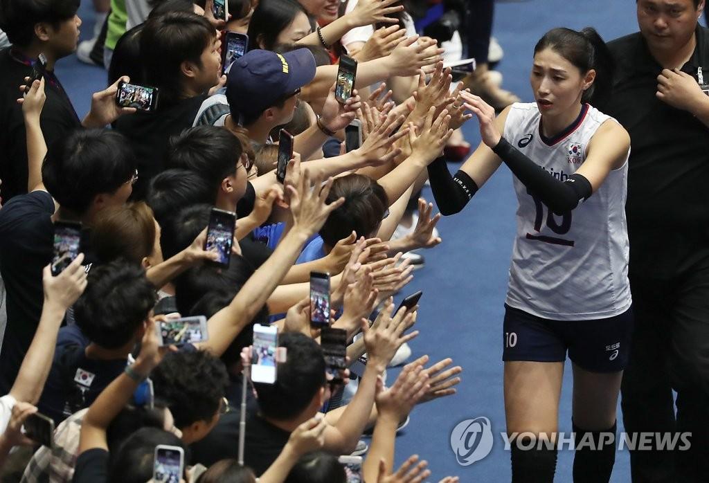 여자배구 김연경, 아시아선수권 베스트 레프트 선정 | 연합뉴스