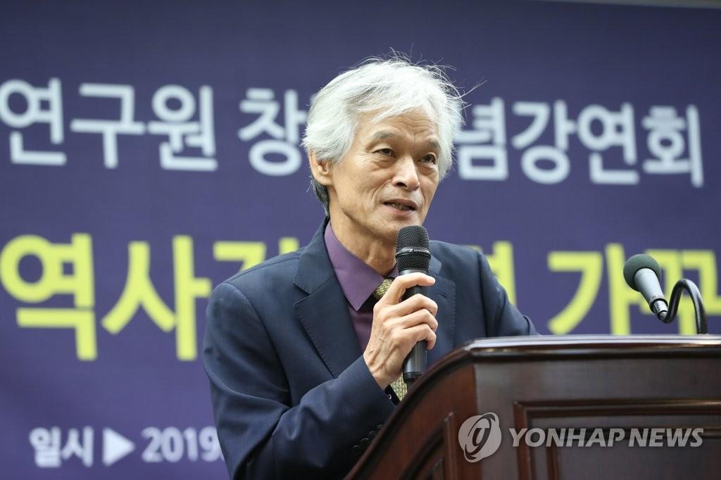 초청 강연하는 송호근 교수