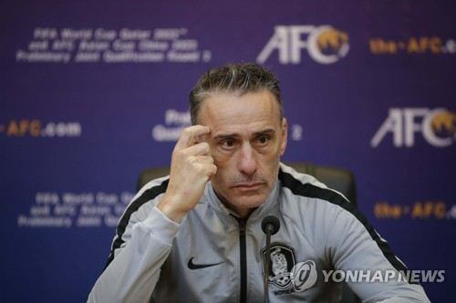 S. Korea coach disappointed with draw vs. N. Korea in World Cup qualifier
