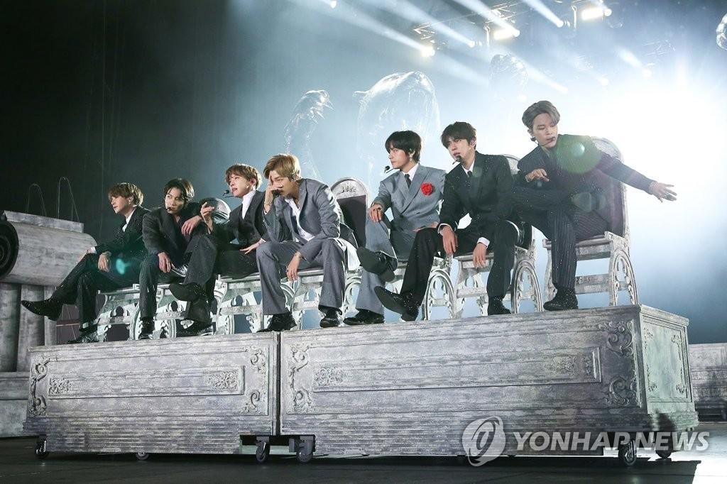 방탄소년단, 빌보드 '소셜 50' 150번째 정상 대기록(종합) | 연합뉴스