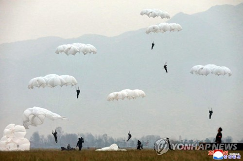 N.K. leader inspects air force training