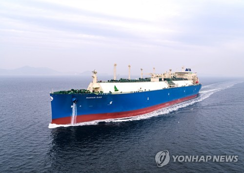 Daewoo's LNG carrier with air lubrication system