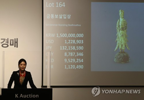 (LEAD) Two rare Buddhist treasures fail to sell at high-profile auction