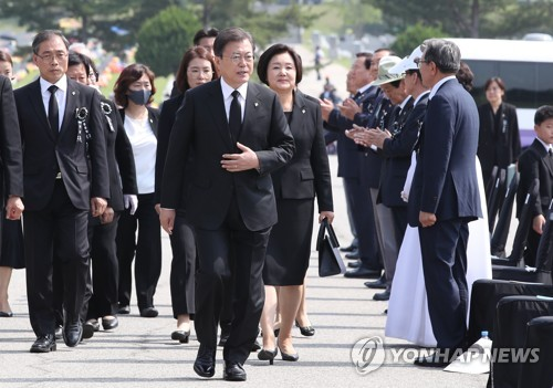(LEAD) Moon vows stronger national defense, security in Memorial Day address