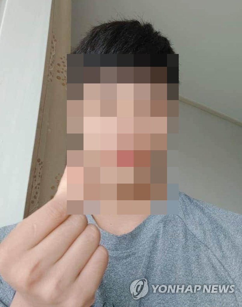 This photo contributed by a news reader shows an image of a former North Korean defector, known as Kim, who is presumed to have fled back to the North. (Yonhap)