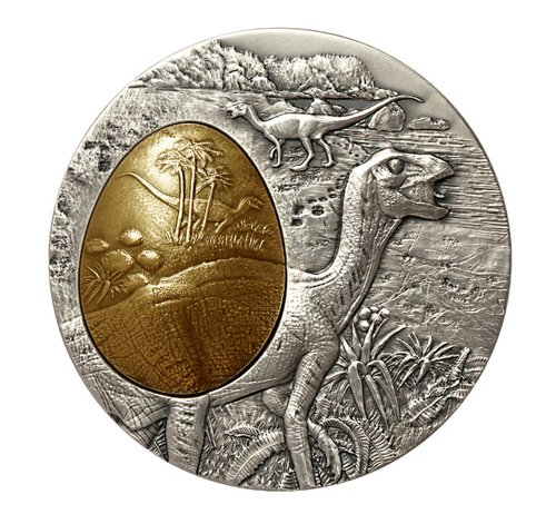 Commemorative dinosaur medal
