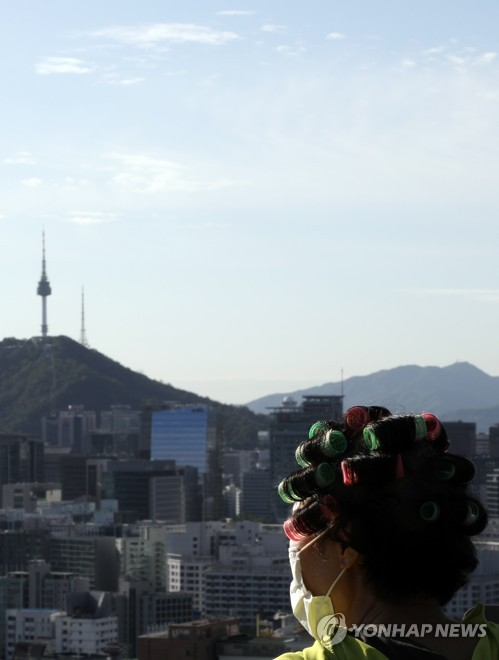 Seoul basks in fine weather