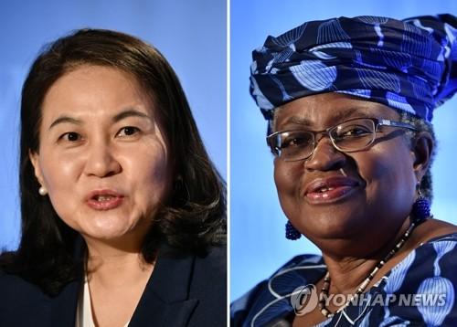 WTO 수장 선거 최종결선에 오른 유명희·오콘조이웨알라