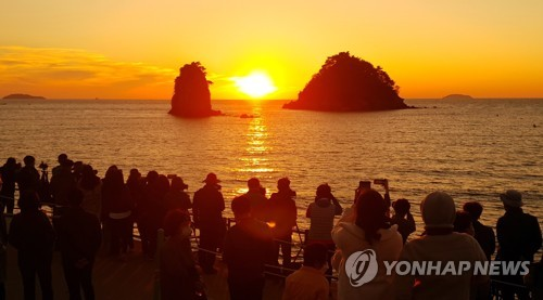 Sunset at Taean beach
