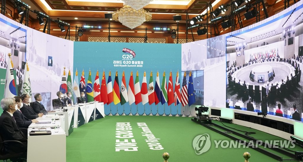 Moon attends G-20 virtual summit