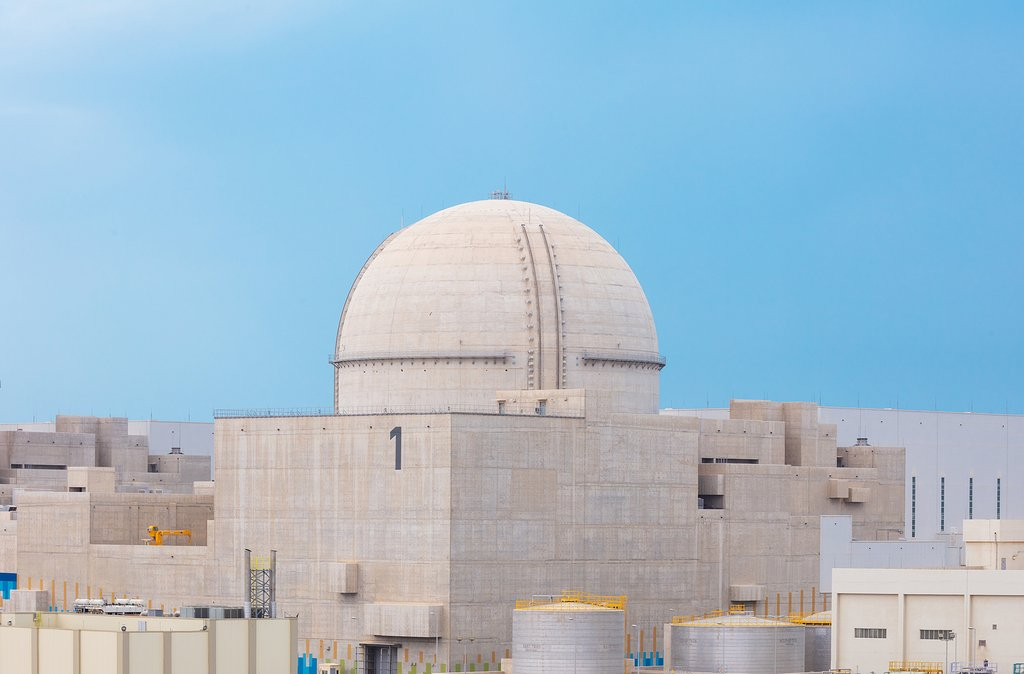 Shown in this undated file photo released by the Korea Electric Power Corp. (KEPCO) is the first reactor at the Barakah nuclear plant of the United Arab Emirates (UAE). (PHOTO NOT FOR SALE) (Yonhap)