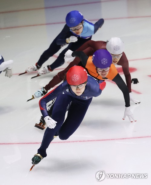 Short track speed skater