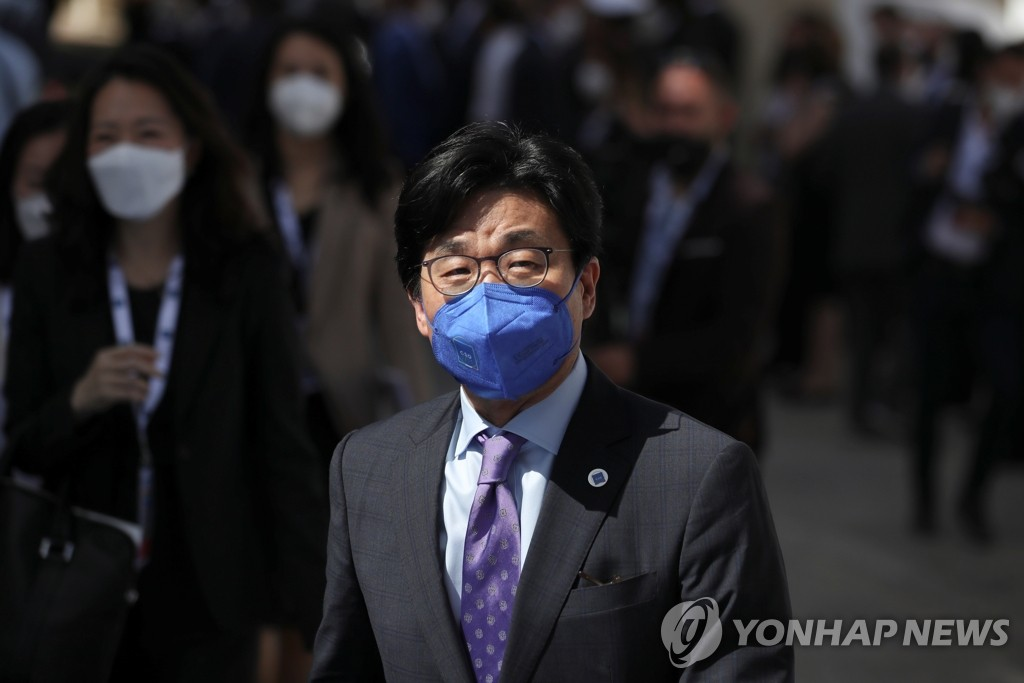 This Reuters photo, filed June 29, 2021, shows South Korean Second Vice Foreign Minister Choi Jong-moon at a Group of 20 session in Italy. (Yonhap)