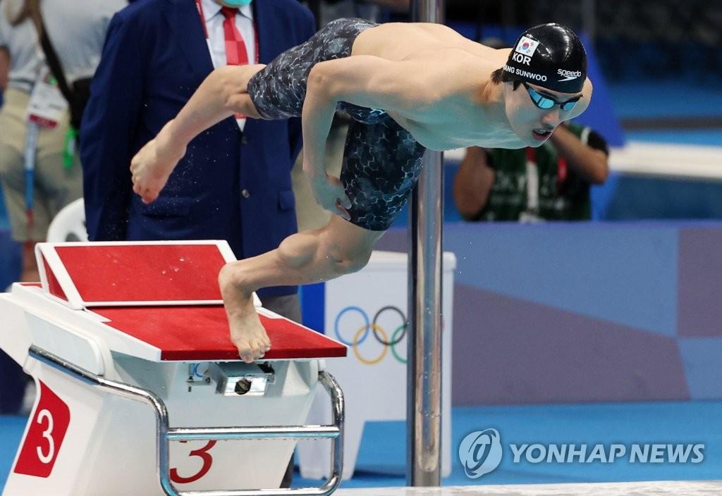 [올림픽] 황선우, 100미터 출발